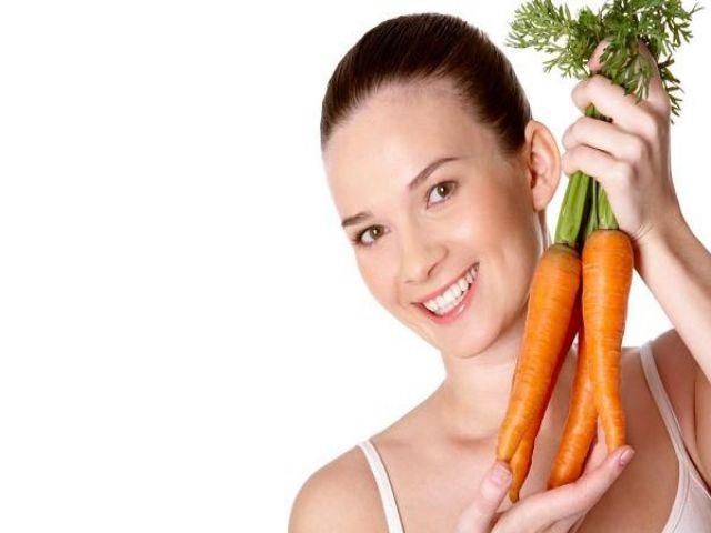 Da sáng mịn với cà rốt