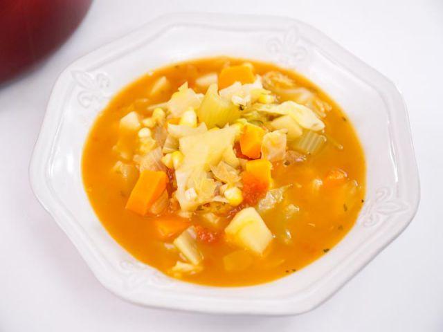 Món súp rau củ chay hấp dẫn